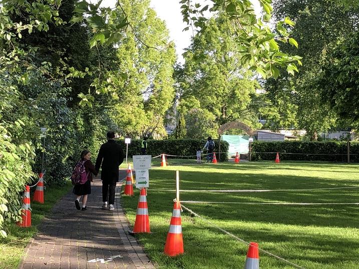 Returning to a lush green Junior School Vlaskamp.