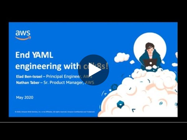 Webinar: End YAML engineering with cdk8s!
