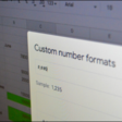 How to manage custom number formats in Google Sheets