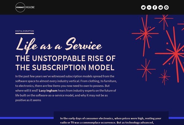 Life as a Service: The Unstoppable Rise of the Subscription Model