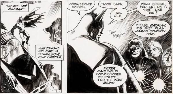 Don Newton - Batman Original Comic Art