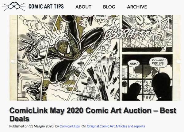 Best Deals in ComicLink's Original Art Auction