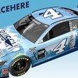 Busch Light paints fan faces on NASCAR car