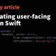 Propagating user-facing errors in Swift
