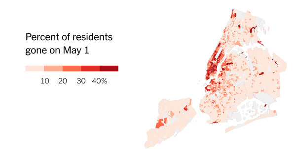 The Richest Neighborhoods Emptied Out Most as Coronavirus Hit New York City