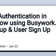 User Authentication in Webflow using Busywork.