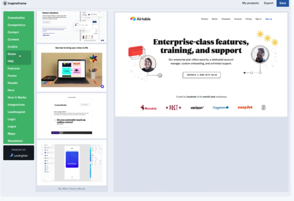 Inspireframe | Fast, easy website prototyping
