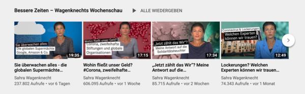 Wagenknechts Wochenschau auf YouTube ansehen