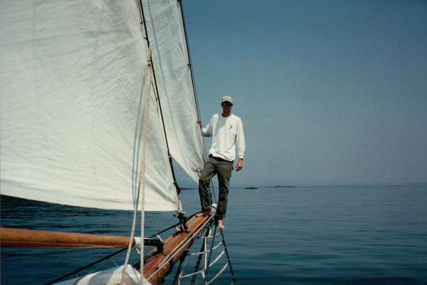 Back in the early days of me sailing on the Schooner Appledore as a deckhand
