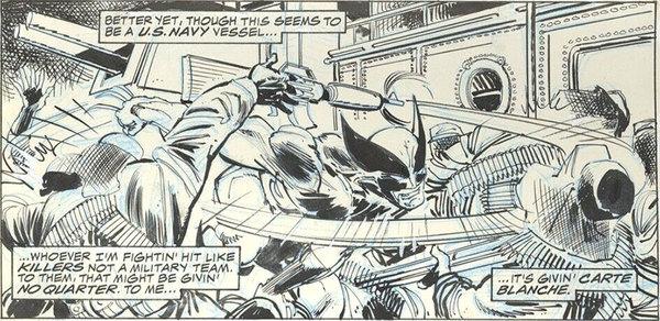 John Byrne - Wolverine Original Comic Art