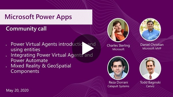 Microsoft Power Apps community call-May 2020