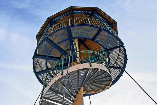 Der Aussichtsturm auf dem Finkenberg. Foto: F. Geisler