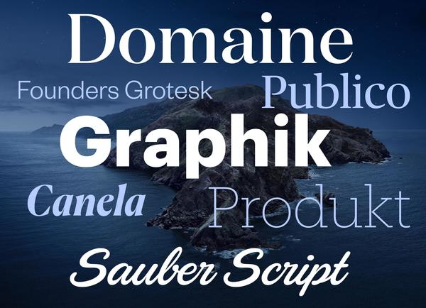 New fonts for macOS Catalina