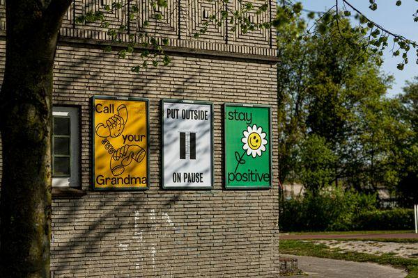 Positive posters in Breda
