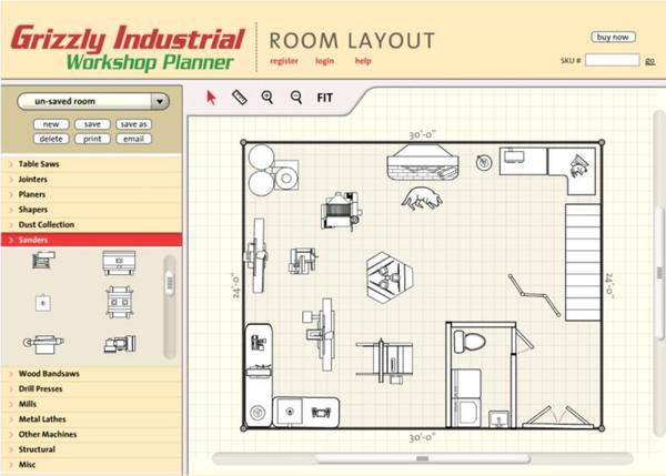 Easy-to-use shop layout tool