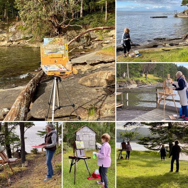 Plein Air Painting While Physically Distancing