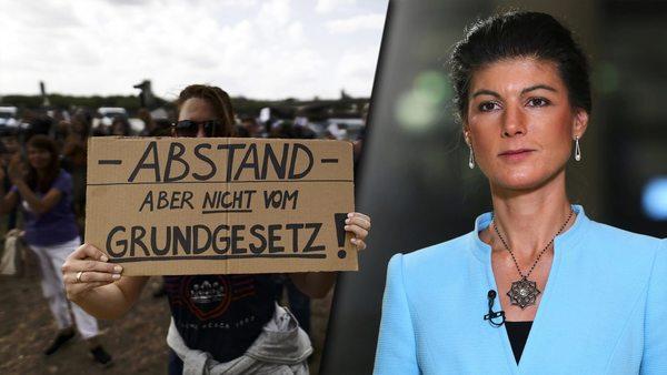 """Wagenknecht: """"Nicht alle Demonstranten als Verschwörungstheoretiker beschimpfen"""""""