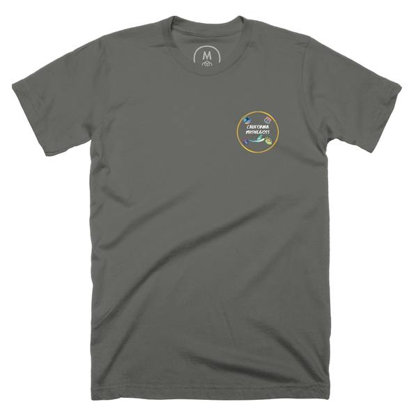 """""""California Mishegoss Tee"""" graphic tee, pullover hoodie, pullover crewneck, and tank by Mark-John Clifford.   Cotton Bureau"""