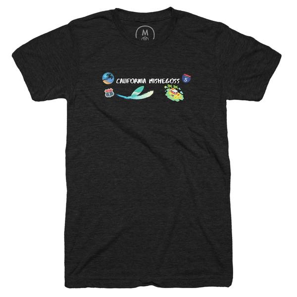 """""""California Mishegoss Tee 2"""" graphic tee, pullover crewneck, pullover hoodie, and tank by Mark-John Clifford.   Cotton Bureau"""