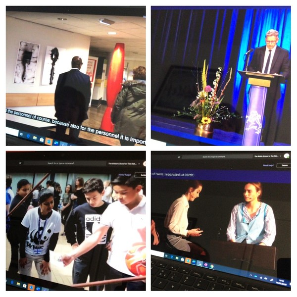 the Student Awards evening watched by students, families at staff at home