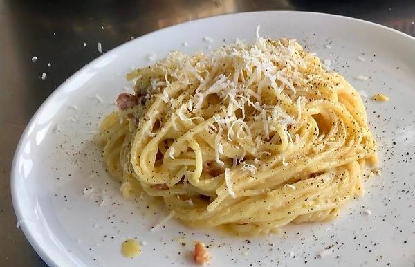 Pasta carbonara (klik voor het recept)