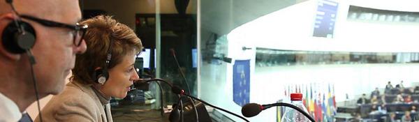 Tolken in het Europees Parlement - Foto EP