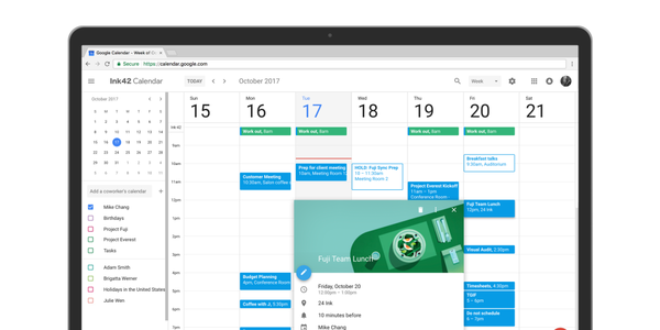 Google Calendar now lets users send a note when changing event details