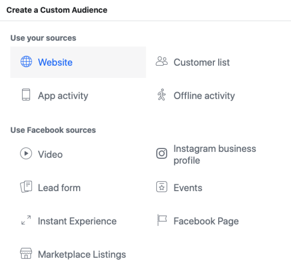 Inside the Facebook Ads interface
