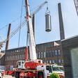 Spektakuläre Bauarbeiten am VW-Kraftwerk: Zwei neue Kamine entstehen