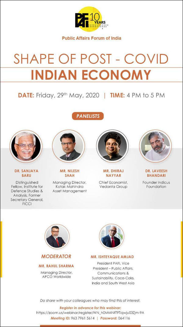 Shape of Post Covid Indian Economy