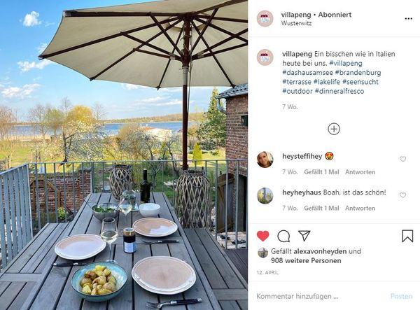 Um zum Instagram-Profil der Villa zu kommen, klicken Sie auf das Bild.