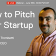 How to Pitch: a Webinar with Marco Trombetti