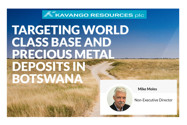 Kavango Resources (KAV.L) Director Mike Moles, Kalahari Copper Belt Video update