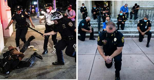 Stop Sharing Viral Photos Of Cops Kneeling With Protesters