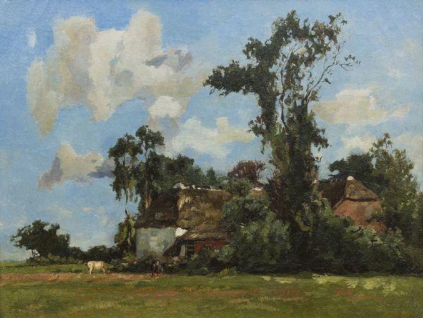 'Boerderij in de zomer' - olieverf op doek: Willem de Zwart (collectie Simonis & Buunk)