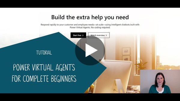 Power Virtual Agents Tutorial for Complete Beginners