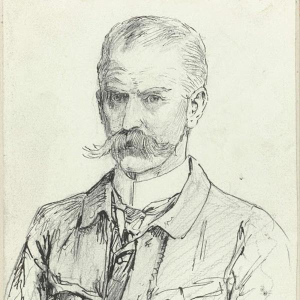 'Zelfportret' 1911 - pen op papier: Jan Hoynck van Papendrecht (coll. Rijksmuseum Amsterdam)