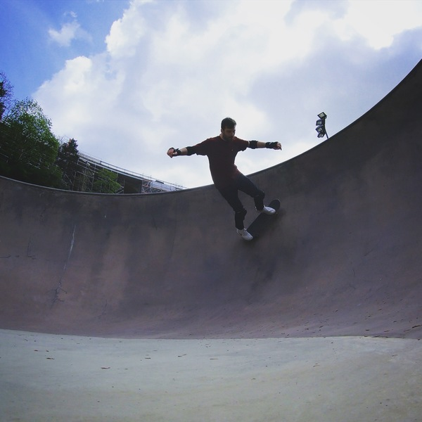Photo of me skating a bowl