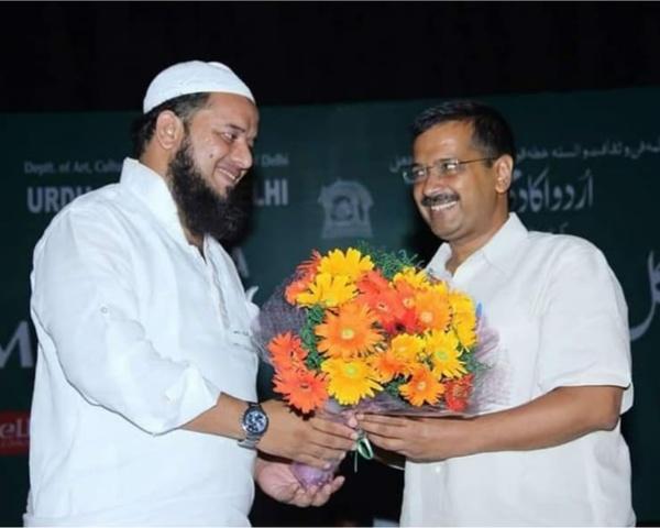 Saifi with Arvind Kejriwal