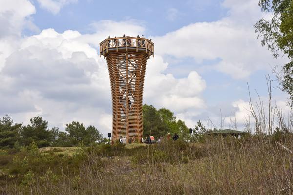 Ein beliebtes Ausflugsziel: Der Aussichtsturm auf dem Sielmannhügel. Foto: Geisler