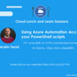 Using Azure Automation Account to run your PowerShell scripts | Meetup
