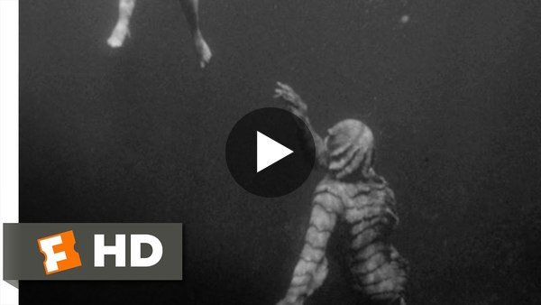 Creature from the Black Lagoon (4/10) Movie CLIP - Underwater Stalking (1954) HD