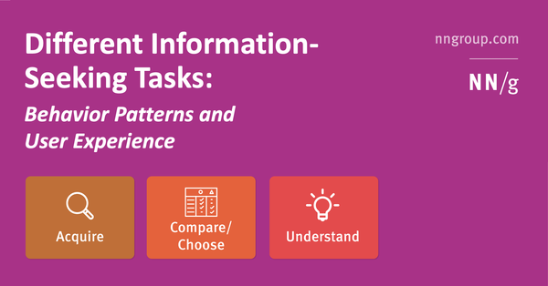 Different Information-Seeking Tasks: Behavior Patterns and User Expectations
