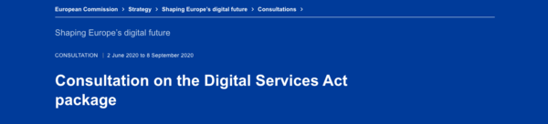 Why startup founders should participate in the European Commission's Digital Services Act consultation.  - Allied For Startups