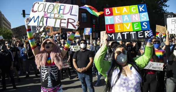 Drag March For Change protests against racial injustice in America, Chicago, Boystown