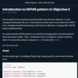 Introduction To MVVM Pattern In Objective-C