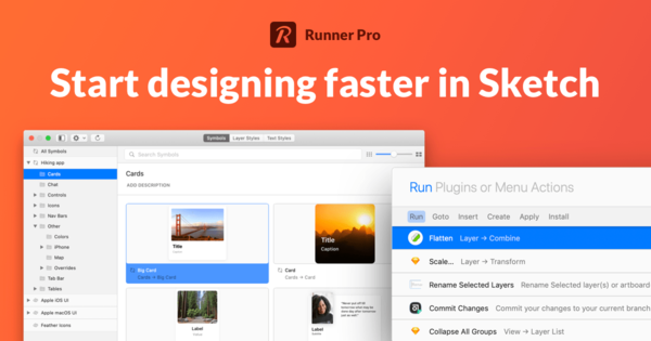 Runner Components Browser — Get full control over all your symbols and styles in Sketch