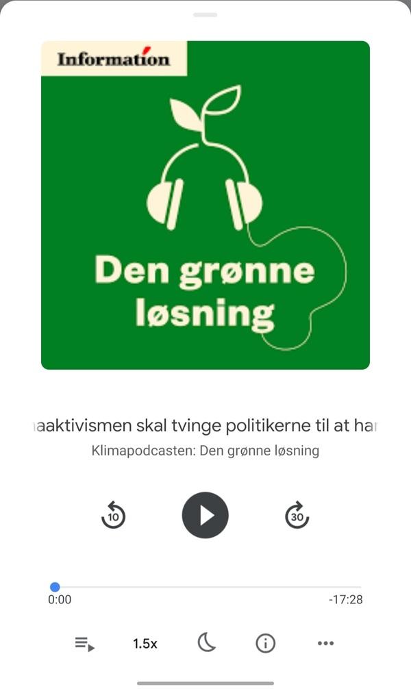 Afspilleren i Google Podcasts indeholder langt de fleste af de funktioner man vil forvente