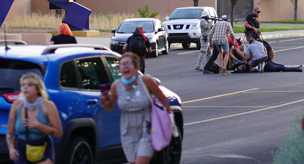Armed 'militia' members arrested after man is shot at Albuquerque protest