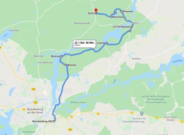 Für eine detailliertere Ansicht von Etappe 1, klicken Sie bitte auf die Karte.